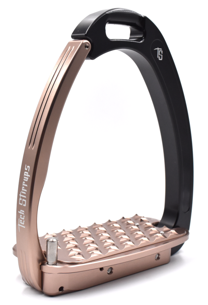 Tech Venice Magnetic Safety Stirrups - Black/Rose Gold (£190.83 Exc VAT & £