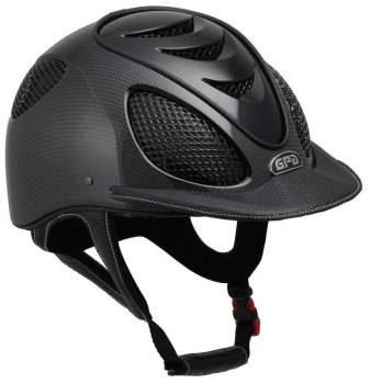 GPA Speed Air Shiny Carbon Riding Helmet - Black Grills & Vent (£816.67 Exc VAT & £980.00 Inc VAT)