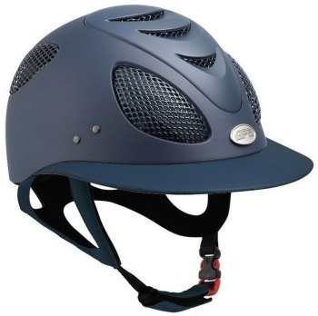 GPA First Lady 2X Leather Riding Helmet - Navy/Navy Leather (£525.00 Exc VAT & £630.00 Inc VAT)