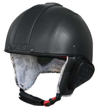 GPA Legend Synthetic Leather Ski Helmet - Black £320.00 (Exc VAT) or £384.00 (Inc VAT)