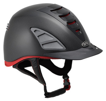 GPA Speed Air Carbon 4S REDLINE Collection Riding Helmet - Matt Carbon (£958.33 Exc VAT & £1150.00 Inc VAT)