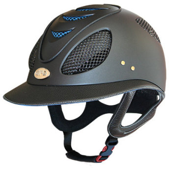 GPA First Lady 2X Leather Riding Helmet - Black/Blue (£582.50 Exc VAT & £699.00 Inc VAT)