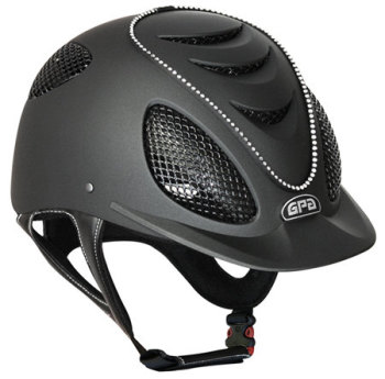 GPA Speed Air Swarovski Crystal Riding Helmet - Black With Crystals (£470.83 Exc VAT or £565.00 Inc VAT)