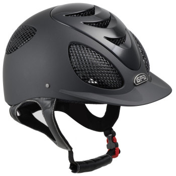 GPA Speed Air Evolution 2X Riding Helmet - Black/Polished Black Vent (£415.83 Exc VAT & £499.00 Inc VAT)