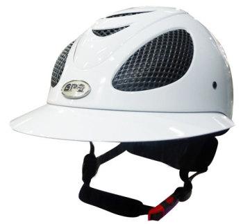 GPA Speed' Air Polo Riding Helmet - White Shiny (£415.83 Exc VAT & £499.00 Inc VAT)