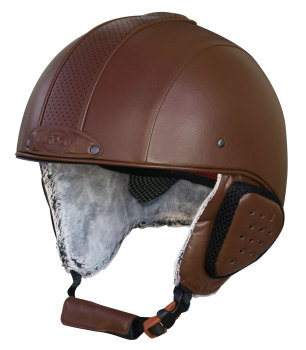 GPA Legend Synthetic Leather Ski Helmet - Brown £320.00 (Exc VAT) or £384.00 (Inc VAT)