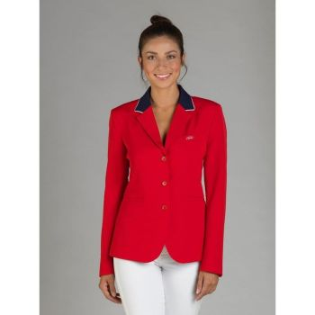 GPA NASKA Ladies Equestrian Show Jacket - Navy with Red Collar (Price £249.17 Exc VAT & £299.00 Inc VAT)