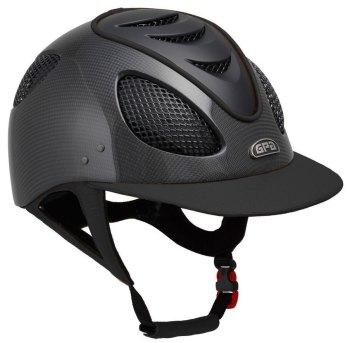 GPA New Generation EVO+ 2X Shiny Carbon Leather Riding Helmet - Black Leather Black Grills & Vent (£816.67 Exc VAT & £980.00 Inc VAT)
