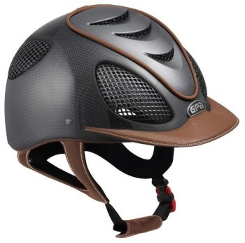 GPA Speed Air Shiny Carbon Riding Helmet - Titane Grills & Vent - Chestnut Leather (£816.67 Exc VAT & £980.00 Inc VAT)