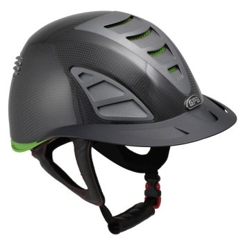 GPA First Lady Carbon 4S REDLINE Collection Riding Helmet - Shiny Carbon/Green (£958.33 Exc VAT & £1150.00 Inc VAT)
