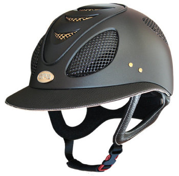 GPA First Lady 2X Leather Riding Helmet - Black/Beige (£582.50 Exc VAT & £699.00 Inc VAT)