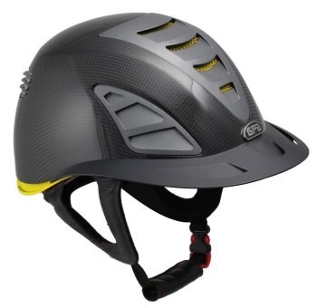 GPA First Lady Carbon 4S REDLINE Collection Riding Helmet - Shiny Carbon/Yellow (£958.33 Exc VAT & £1150.00 Inc VAT)