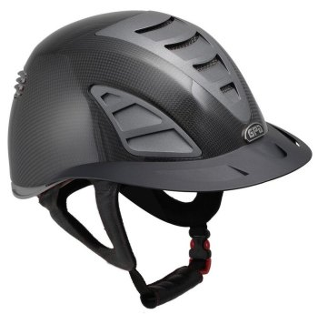 GPA First Lady Carbon 4S REDLINE Collection Riding Helmet - Shiny Carbon/Grey (£958.33 Exc VAT & £1150.00 Inc VAT)