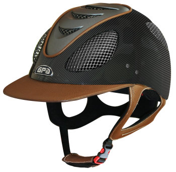 GPA New Generation EVO+ 2X Carbon Leather Riding Helmet - Various Leather Colours (£816.67 Exc VAT & £980.00 Inc VAT)