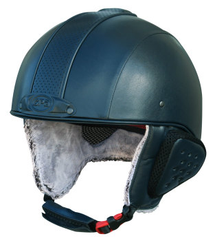 GPA Legend Synthetic Leather Ski Helmet - Navy £320.00 (Exc VAT) or £384.00 (Inc VAT)