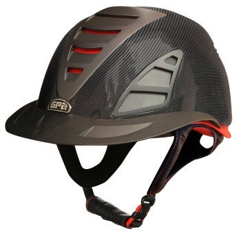 GPA First Lady Carbon 4S REDLINE Collection Riding Helmet - Carbon in Shiny Or Matt Finish (£749.17 Exc VAT & £899.00 Inc VAT)