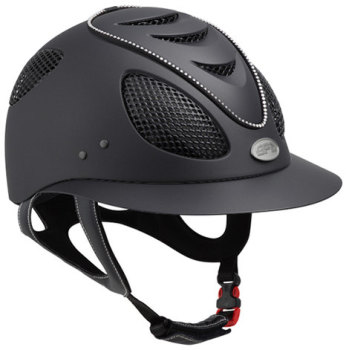 GPA First Lady Swarovski Crystal Riding Helmet - Black With Crystals (£470.83 Exc VAT or £565.00 Inc VAT)