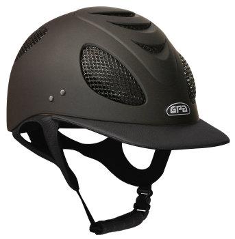 GPA New Generation EVO+ 2X Leather Riding Helmet - Black Leather (£525.00 Exc VAT & £630.00 Inc VAT)