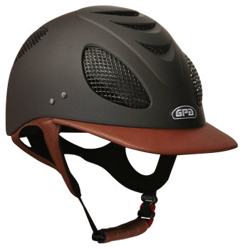 GPA New Generation EVO+ 2X Leather Riding Helmet - Chestnut Leather (£525.00 Exc VAT & £630.00 Inc VAT)
