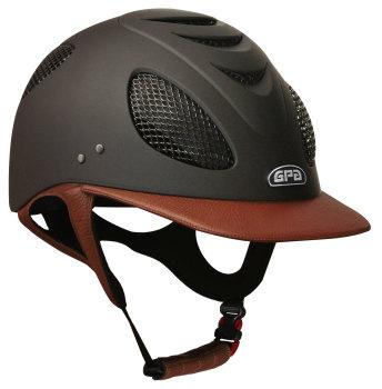 GPA New Generation EVO+ 2X Leather Riding Helmet - Chestnut Leather (£525.00 Exc VAT & £630.00 Inc VAT)