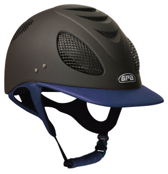 GPA New Generation EVO+ 2X Leather Riding Helmet - Navy Leather (£525.00 Exc VAT & £630.00 Inc VAT)