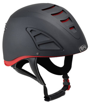 Jock Up Three 4S Eventing Redline Riding Helmet - Black (£466.67 Exc VAT and £560.00 Inc VAT)