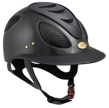 GPA First Lady Leather Carbon 2X Riding Helmet - Matt or Shiny Carbon Black Leather (£816.67 Exc VAT & £980.00 Inc VAT)
