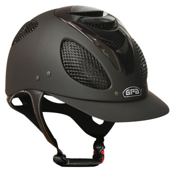GPA New Generation EVO + Tone On Tone 2X Riding Helmet - Black With Polished Black Vent (£415.83 Exc VAT & £499.00 Inc VAT)