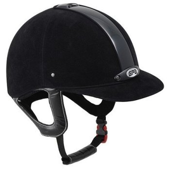 GPA New Classic 2X Harness Velvet Riding Helmet - Black/Black (£308.33 Exc VAT & £370.00 Inc VAT)