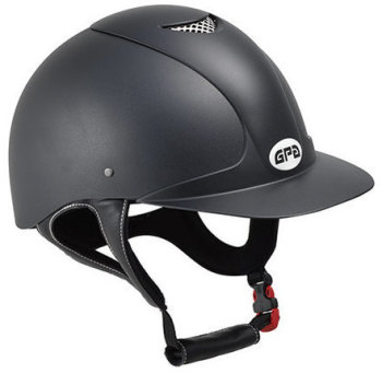 GPA Jimpi 2X Harness Riding Helmet - Black/Black (£174.17 Exc VAT & £209.00 Inc VAT)