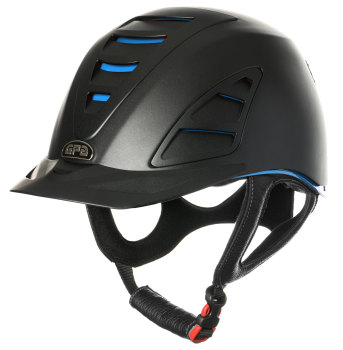 GPA Speed Air 4S REDLINE Collection Riding Helmet - Black/Blue (£479.17 Exc VAT and £575.00 Inc VAT)