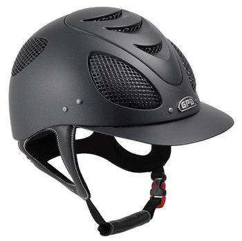 GPA New Generation EVO + 2X Riding Helmet - Black With Silver Grill (£400.00 Exc VAT & £480.00 Inc VAT)