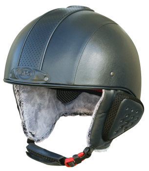GPA Legend Synthetic Leather Ski Helmet - Anthracite £320.00 (Exc VAT) or £384.00 (Inc VAT)