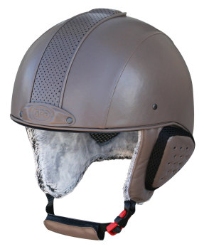 GPA Legend Synthetic Leather Ski Helmet - Taupe £320.00 (Exc VAT) or £384.00 (Inc VAT)