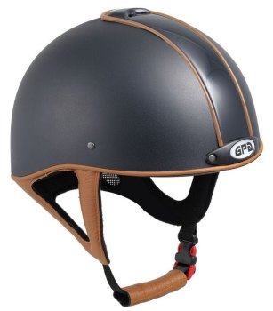 GPA Jock Up 3 2X Leather Riding Helmet - Black Shell With Choice Of Leather (£332.50 Exc VAT & £399.00 Inc VAT)