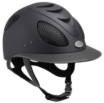 GPA First Lady Leather Riding Helmet - Grey/Grey Leather (£525.00 Exc VAT & £630.00 Inc VAT)