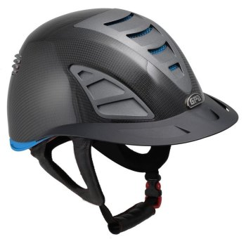 GPA First Lady Carbon 4S REDLINE Collection Riding Helmet - Shiny Carbon/Blue (£958.33 Exc VAT & £1150.00 Inc VAT)
