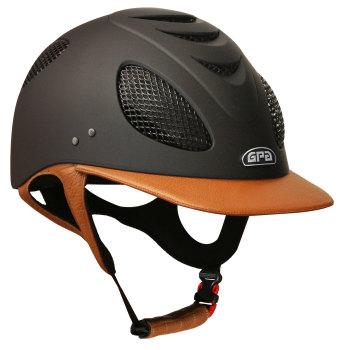 GPA New Generation EVO+ 2X Leather Riding Helmet - Gold Tan Leather (£525.00 Exc VAT & £630.00 Inc VAT)