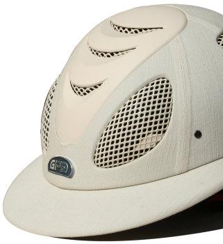 GPA Speed' Air Polo 2X Fabric Covered Riding Helmet - Beige (£499.17 Exc VAT & £599.00 Inc VAT)