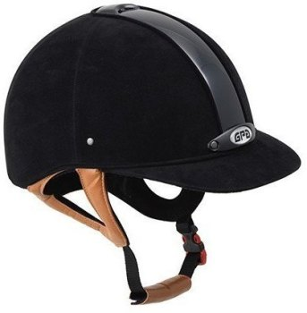 GPA New Classic 2X Harness Velvet Riding Helmet - Black/Tan Harness (£308.33 Exc VAT & £370.00 Inc VAT)