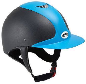 GPA Jimpi 2X Harness Riding Helmet - Black/Blue (£174.17 Exc VAT & £209.00 Inc VAT)