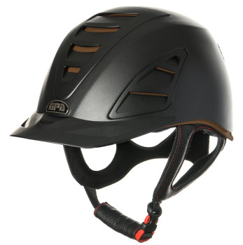 GPA Speed Air 4S REDLINE Collection Riding Helmet - Black/Chocolate (£479.17 Exc VAT and £575.00 Inc VAT)