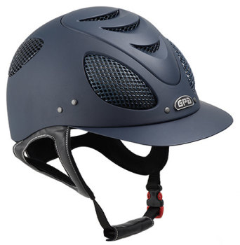 GPA New Generation EVO + 2X Riding Helmet - Navy With Silver Grill (£400.00 Exc VAT & £480.00 Inc VAT)