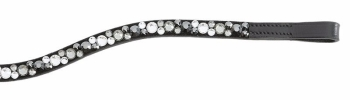 """Browband """"Sparkle"""", curved With large and small rhinestones (£27.50 Exc VAT and £33.00 Inc VAT) Product Code 202 15"""