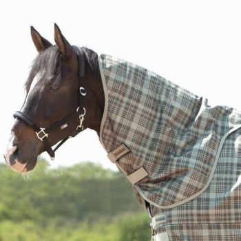 "Neck piece for turnout rug ""Montreal"" 100g Filling Available in Navy or Green Checked (£26.67 Exc VAT or £32.00 Inc VAT)"