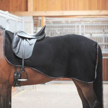 "Fleece Horse Blanket""Work"" - Black - One Size (£23.75 Exc VAT or £28.50 Inc VAT) Product Code 482 07"
