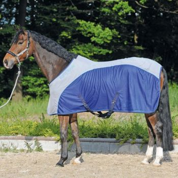 "Flysheet ""Kavalmesh"" Rug - Navy/grey (£51.67 Exc VAT or £62.00 Inc VAT) Product Code 458 05"