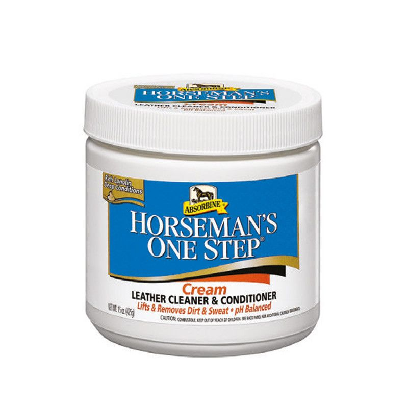 Horseman's One Step® Cream Leather Cleaner & Conditioner - 425g (504 01) (£