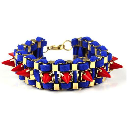 Blue Back Spike Bracelet