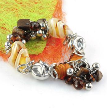 Chocolate Stone Bracelet